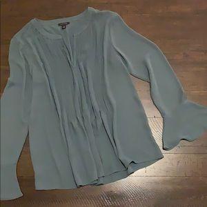 Ann Taylor pewter blue blouse